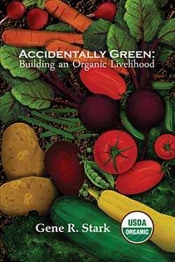Cover of Accidentally Green with colorful illustration of many vegetables