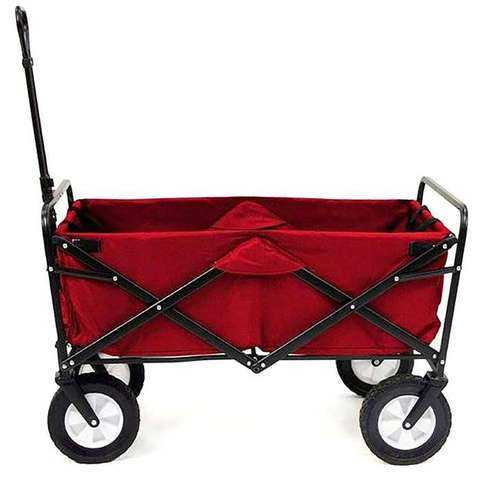 A red folding wagon