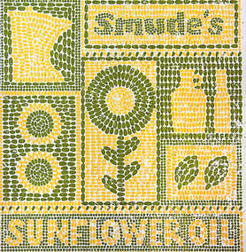 Smude's Oil logo, made from seeds
