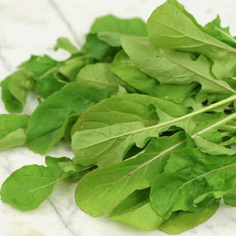 Green arugula leaves